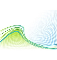 blue and green wavy background vector image vector image