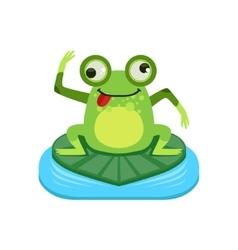 Crazy Cartoon Frog Character vector image vector image