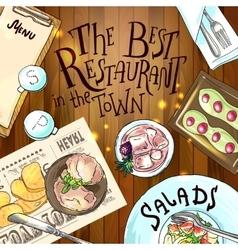 food of restaurant vector image vector image