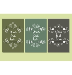 frames for text hand drawn vector image vector image