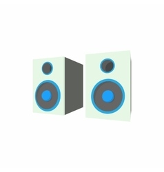 Speakers icon in cartoon style vector image vector image