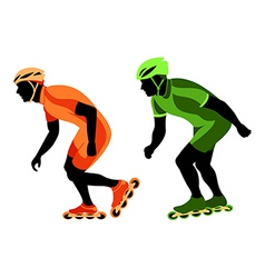 speed skating vector image vector image