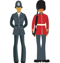 traditional British officers vector image