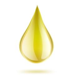 yellow drop of petrol vector image vector image