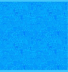 4 july usa line seamless pattern vector image