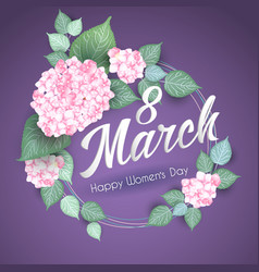 8 march women s day greeting card template vector image