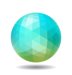 Abstract polygonal sphere vector image
