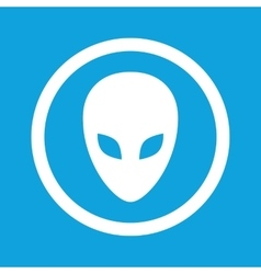 Alien sign icon vector