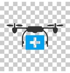 Ambulance Drone Icon vector