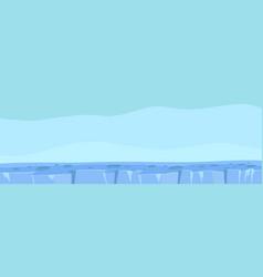Antarctica winter ice cold planet north pole vector