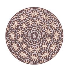 asian geometric mandala frame vector image