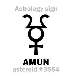 astrology asteroid amun vector image