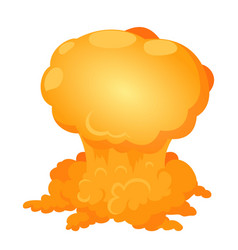 Atomic explosion icon isometric style vector