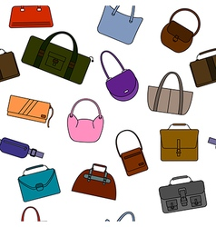 Bag purse seamless pattern vector