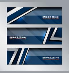 banner template modern design vector image