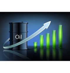 barrel of oil and business graph vector image
