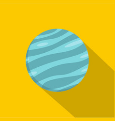 Big planet icon flat style vector