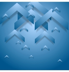Blue geometry corporate background vector