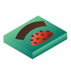 Bonbon green box icon isometric style vector