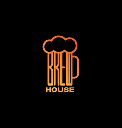 Brew house logo vector