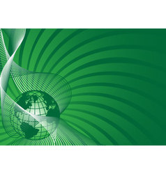 business background with green world globe vector image