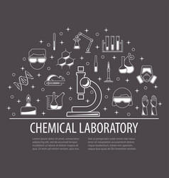 Chemistry icons banner vector