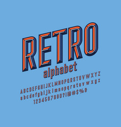 chisel font vector image