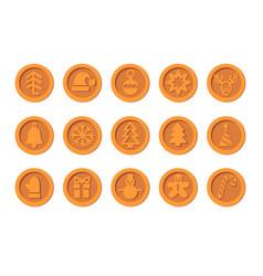 Christmas cryptocurrency logo set - santa claus vector