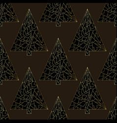 christmas tree seamless pattern happy new vector image