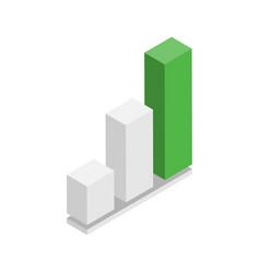digital marketing visualization chart vector image