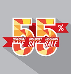 Discount 55 Percent Off vector image