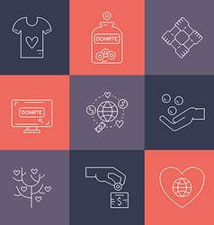 Donation Icons vector image
