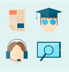 Education and school web icon vector