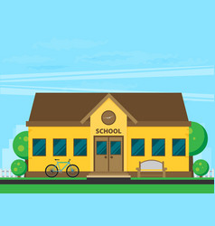 education school university flat vector image