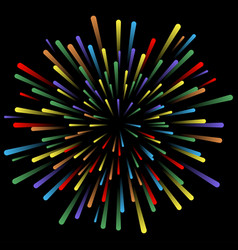 explosion fireworks glowing light effects vector image