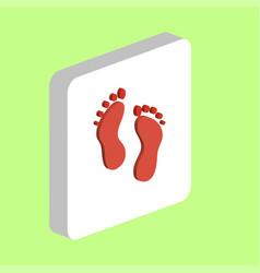 Feet computer symbol vector