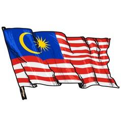 flag of Malaysia vector image