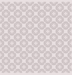 floral geometric seamless pattern with crosses vector image