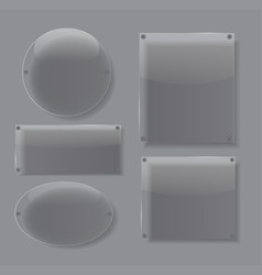 Glass transparency frame vector