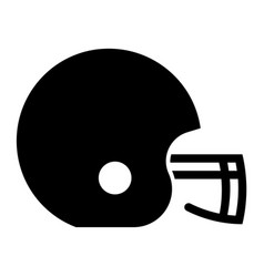 Glyph beautiful rugby helmet icon vector