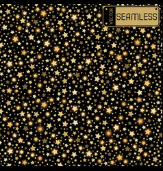 golden abstract shining falling stars seamless vector image
