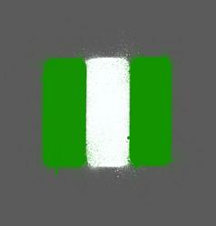 graffti nigerian flag sprayed over gray vector image