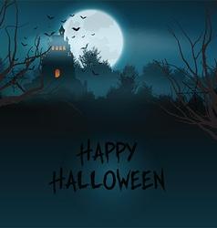 Halloween castle landscape vector