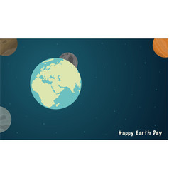 happy earth day with space style vector image