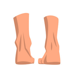 Human feet standing back view vector