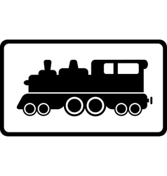 Isolated black train vector