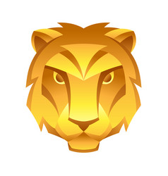 Leo zodiac sign golden horoscope symbol vector
