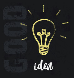 Lightbulb ideas concept vector