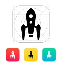 Long rocket icon on white background vector image