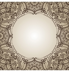 Mandala patternOrient ethnic backgroundHenna vector image